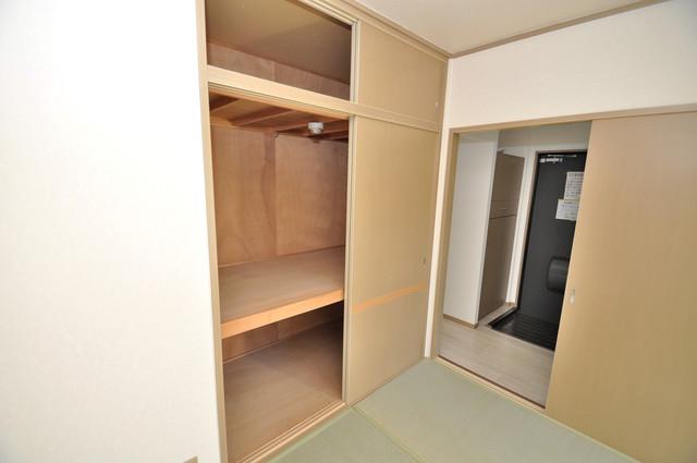 サンビレッジ・ラポール 大容量のクローゼットは荷物が多い方も安心ですよ。