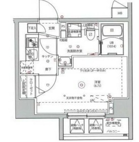 MAXIV川崎9階Fの間取り画像