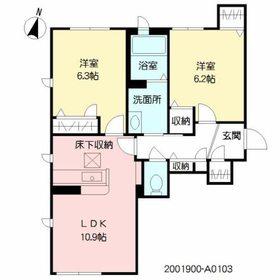 ラ・シャルール3階Fの間取り画像