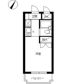 スカイコート川崎42階Fの間取り画像