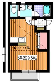 メトロ成増2階Fの間取り画像