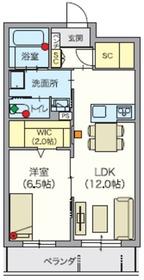 (シニア限定)ヘーベルVillage吉祥寺北2階Fの間取り画像