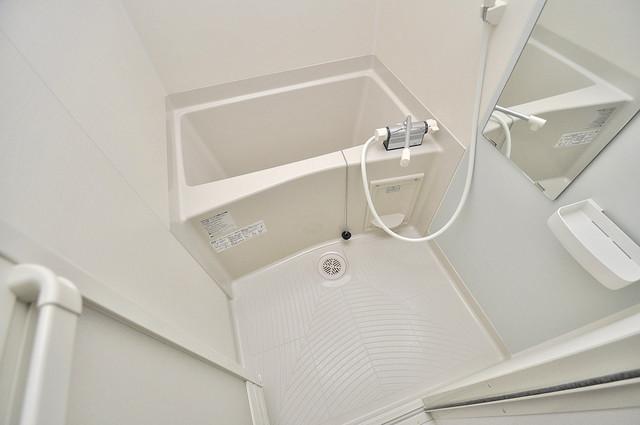 Fmaison verdeⅡ(エフ メゾン ベルデ) 単身さんにちょうどいいサイズのバスルーム。