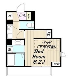 生田駅 徒歩5分2階Fの間取り画像