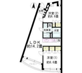 モノデコール石神井公園1階Fの間取り画像