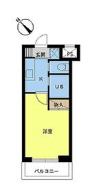 スカイコート日本橋第24階Fの間取り画像