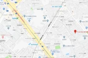 西ヶ原駅 徒歩4分案内図