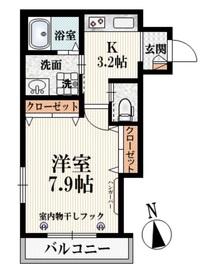 クレセールワセダ3階Fの間取り画像