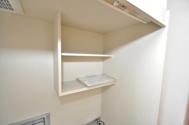 ロータリーマンション長田東 キッチン棚も付いていて食器収納も困りませんね。