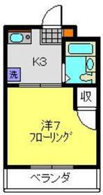 コーポニシキ2階Fの間取り画像