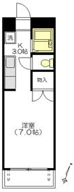 ファミール田中1階Fの間取り画像