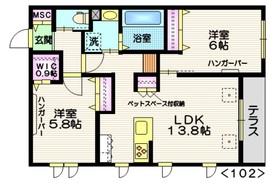 (仮称)天王台3丁目メゾン1階Fの間取り画像