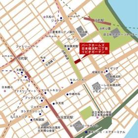 パークホームズ日本橋浜町二丁目リビオガーデン案内図