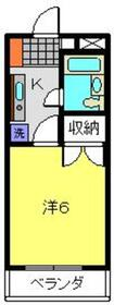 ヨコハマポートマンション4階Fの間取り画像