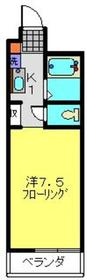YOKOHAMA GENIUS GARDEN2階Fの間取り画像