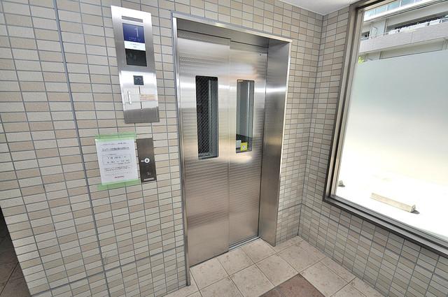 ルミエール・フジ エレベーター付き。これで重たい荷物があっても安心ですね。