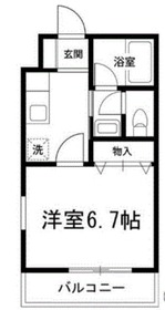 サンハイツ湘南台1階Fの間取り画像