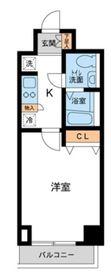 カッシア川崎レジデンス8階Fの間取り画像