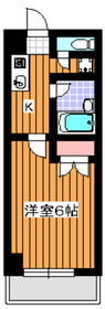 地下鉄赤塚駅 徒歩1分2階Fの間取り画像