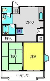 ドミール南3階Fの間取り画像