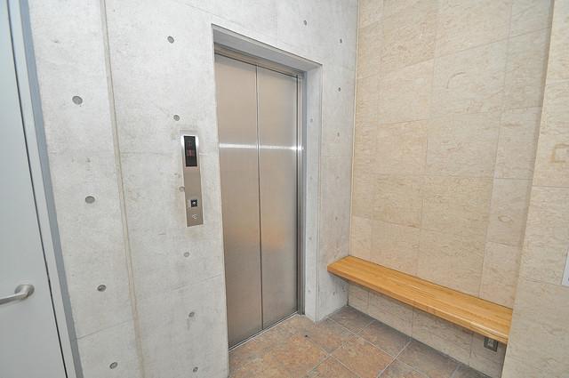 ラシーヌ玉造 嬉しい事にエレベーターがあります。重い荷物を持っていても安心
