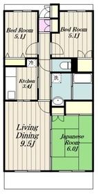 本厚木駅 徒歩12分6階Fの間取り画像