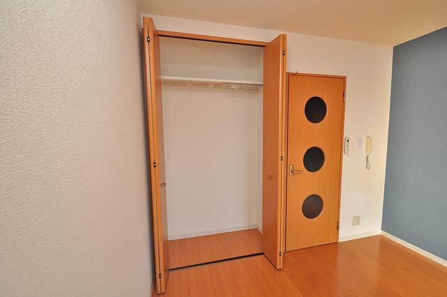 セレブ上小阪 もちろん収納スペースも確保。おかげでお部屋の中がスッキリ。
