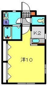 メゾンドシャペリエ1階Fの間取り画像