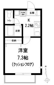 メゾン ソレイユ1階Fの間取り画像