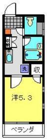 メルベーユ・マツダ6階Fの間取り画像