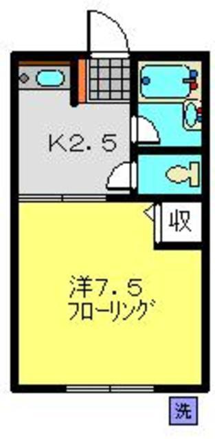 鶴見駅 徒歩15分間取図