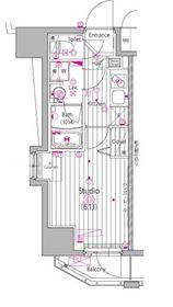 ガーラ・ステーション横濱関内10階Fの間取り画像