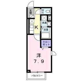 武蔵中原駅 徒歩8分2階Fの間取り画像