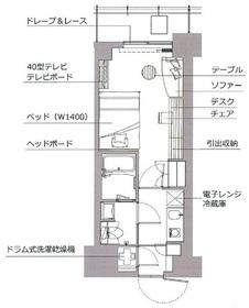 レックスガーデン神楽坂北町1階Fの間取り画像