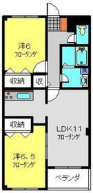 グリーングローブ希望ヶ丘Ⅱ番館1階Fの間取り画像