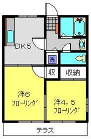 ハイツアドバンスⅡ1階Fの間取り画像