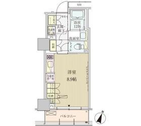 パークアクシス赤坂見附10階Fの間取り画像
