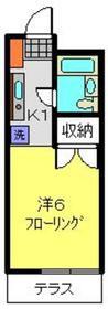 鶴ヶ峰駅 バス10分「市沢町」徒歩1分2階Fの間取り画像