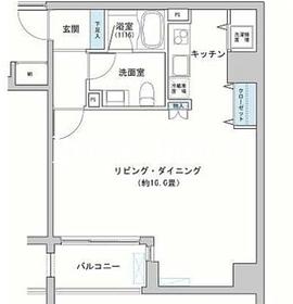 カッシア神田レジデンス10階Fの間取り画像