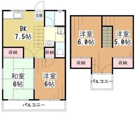 レークサイド東村山2階Fの間取り画像
