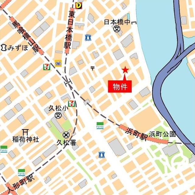 アジュールテラス日本橋浜町案内図