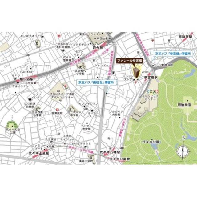 ファレール参宮橋案内図