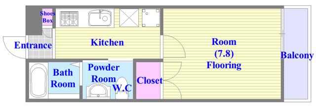 ノイヴェル巽北 バストイレがセパレート、独立洗面所のある使い易い間取りです。