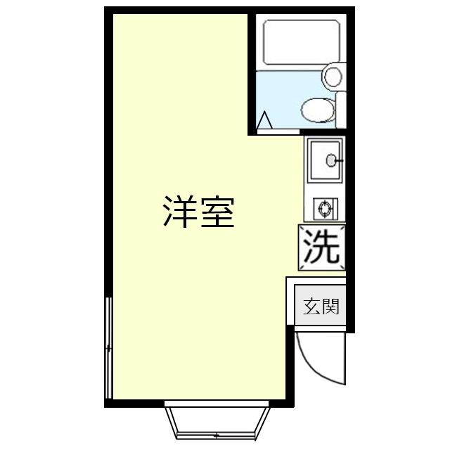 羽成(ハナリ)コーポ間取図