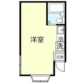 羽成(ハナリ)コーポ1階Fの間取り画像