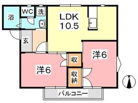 ノアハウス2階Fの間取り画像
