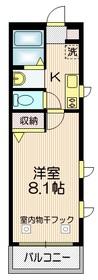 ブランシール2階Fの間取り画像