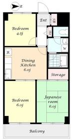 エンブレム八王子本町4階Fの間取り画像