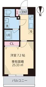 COURT TAKETOKU Ⅲ7階Fの間取り画像