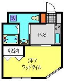 日吉本町駅 徒歩2分3階Fの間取り画像